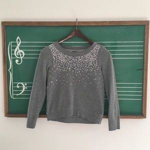 GAP Grey Sequin Sweatshirt Large